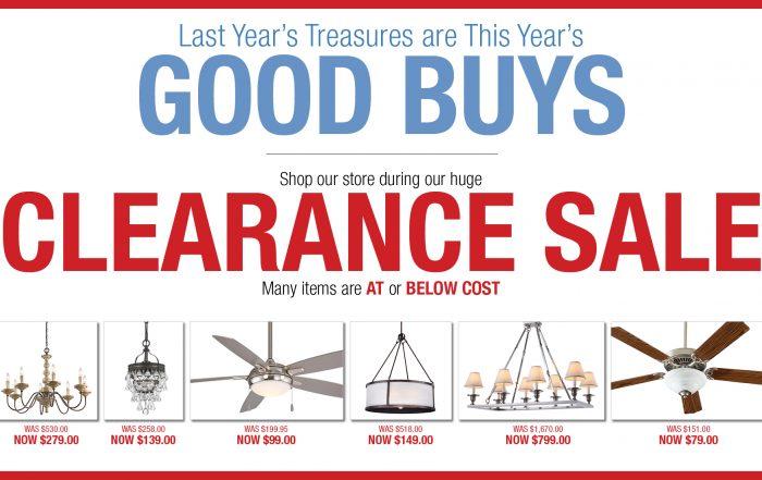Lighting Clearance Sale