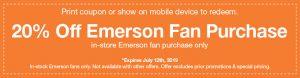 Emerson Ceiling Fan Coupon