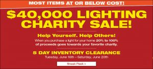Lighting Charity Sale