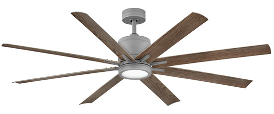 Hinkley 902466FGT-LWD Vantage 66 inch Graphite with Driftwood Blades Ceiling Fan