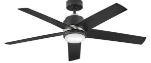 Hinkley 902054FMB-LWA Tier 54 inch Matte Black Ceiling Fan