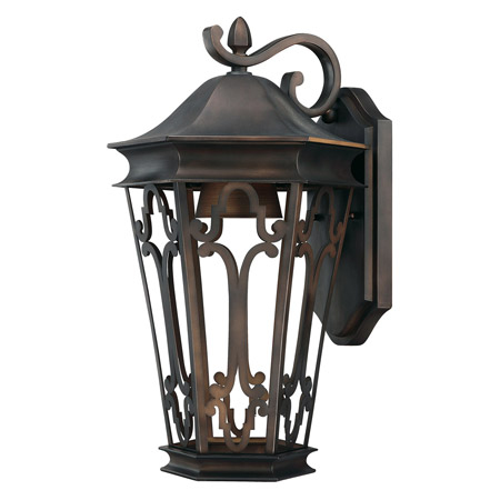 Townsende Collection 1-Light Outdoor Wall Mount Lantern in Old Bronze with Dark Sky Feature Capital Lighting 9442OB