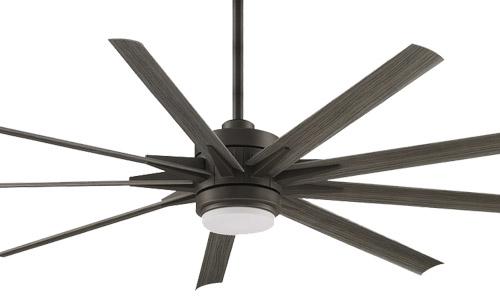 """Odyn Custom Collection 56"""" 9-Blade Ceiling Fan in Matte Greige Fanimation MAD8152GRW"""