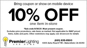 Premier Lighting 10% Off Lighting Coupon